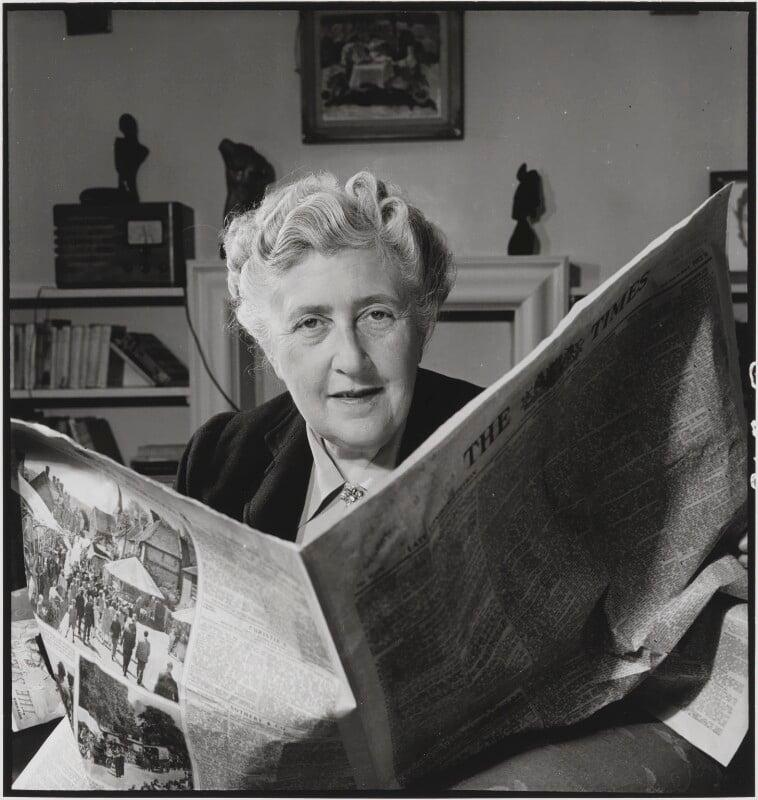 Agatha Christie, by John Gay, published February 1949 - NPG x126501 - © National Portrait Gallery, London