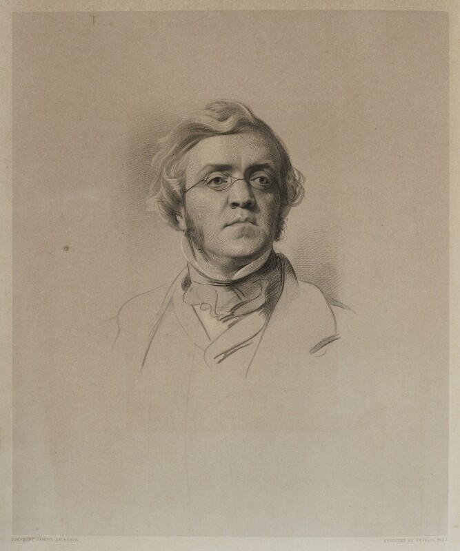 William Makepeace Thackeray, by Francis Holl, after  Samuel Laurence, published 1853 - NPG D19422 - © National Portrait Gallery, London