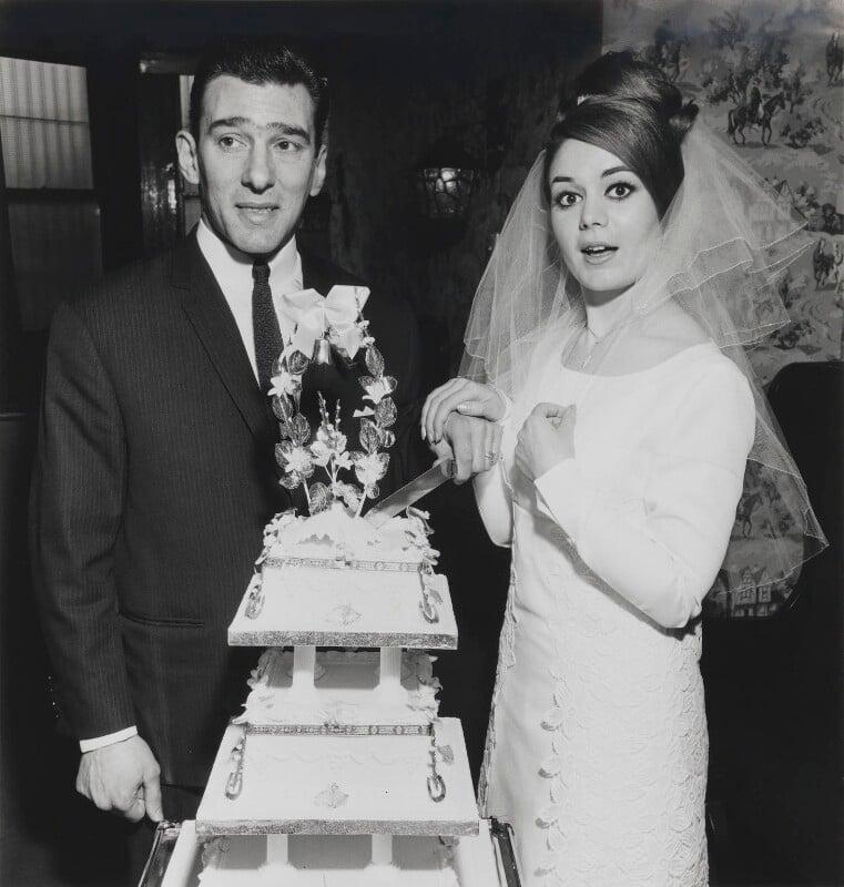 Reggie Kray; Frances Kray (née Shea), by David Bailey, 1 April 1965 - NPG x126467 - © David Bailey