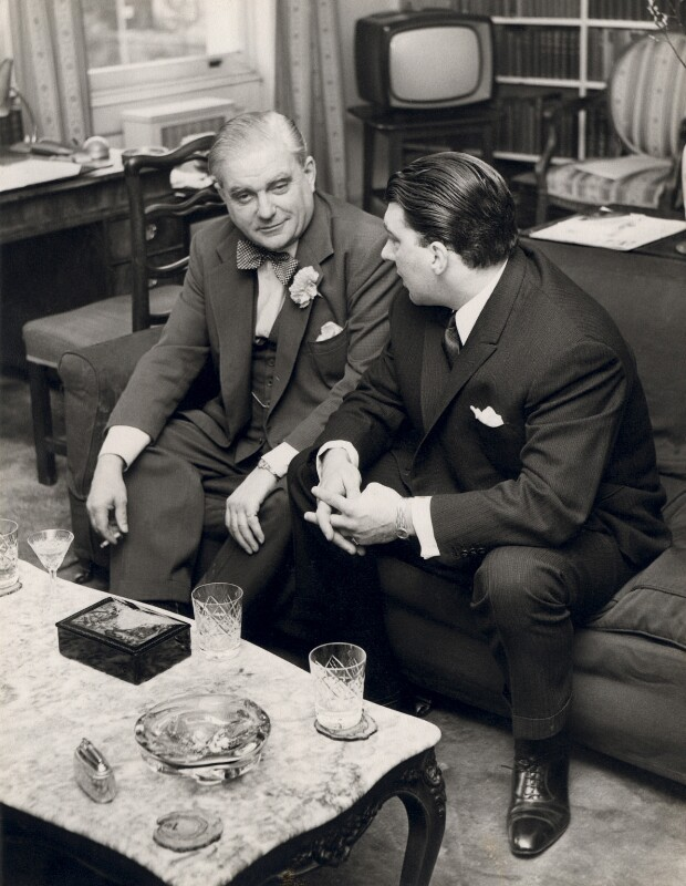 Ronnie Kray; Robert John Graham Boothby, Baron Boothby, by Unknown photographer, circa 1964 - NPG x126472 - © reserved; collection National Portrait Gallery, London