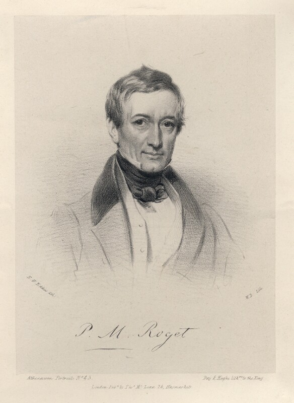 Peter Mark Roget, by William Drummond, printed by  Day & Haghe, published by  Thomas McLean, after  Eden Upton Eddis, 1830s - NPG D16486 - © National Portrait Gallery, London
