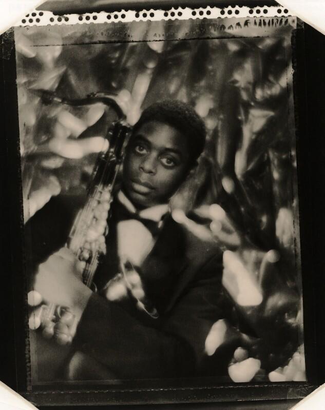 Courtney Pine, by Mike Owen, 6 October 1986 - NPG x126479 - © Mike Owen / National Portrait Gallery, London