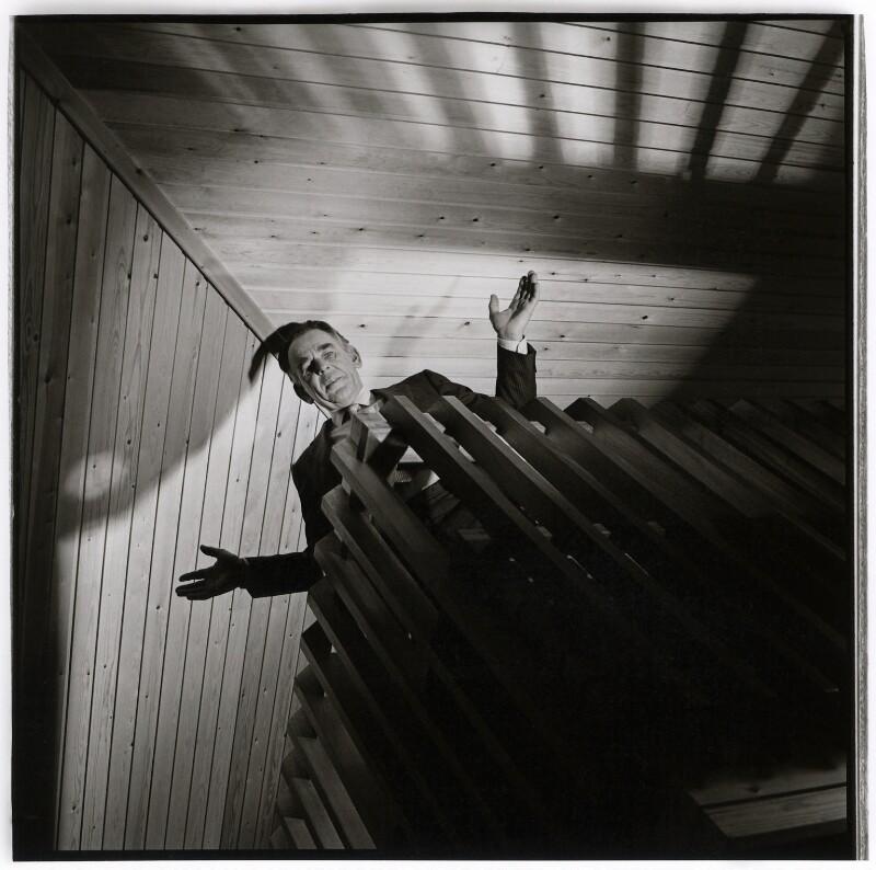 Sir Lawrie Barratt, by Mike Owen, circa mid 1980s - NPG x126482 - © Mike Owen / National Portrait Gallery, London