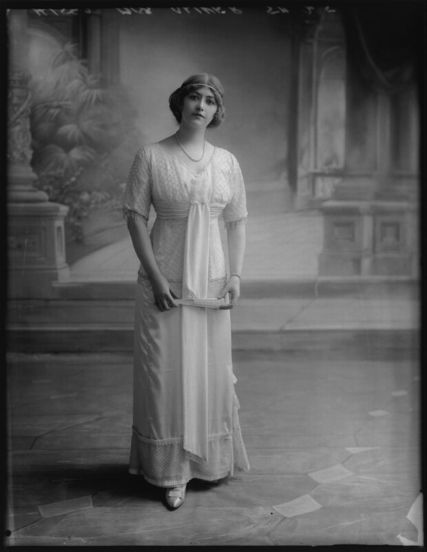Ethel Oliver, by Bassano Ltd, 20 July 1912 - NPG x103423 - © National Portrait Gallery, London