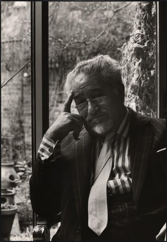 Felix Aprahamian, by Pete Wicker, 1970s-1980s - NPG x47289 - © Pete Wicker