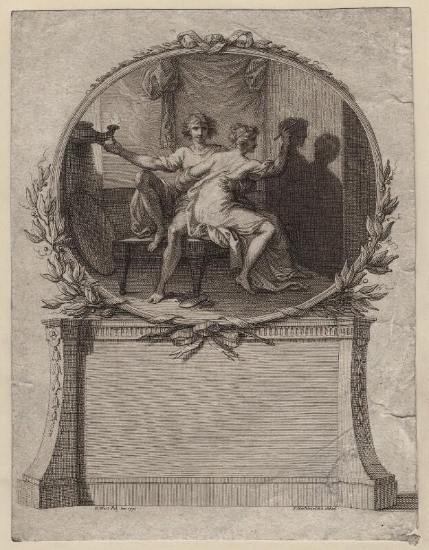 'The Dawn of Portraiture', by Francesco Bartolozzi, after  Benjamin West, 1791 - NPG D16512 - © National Portrait Gallery, London