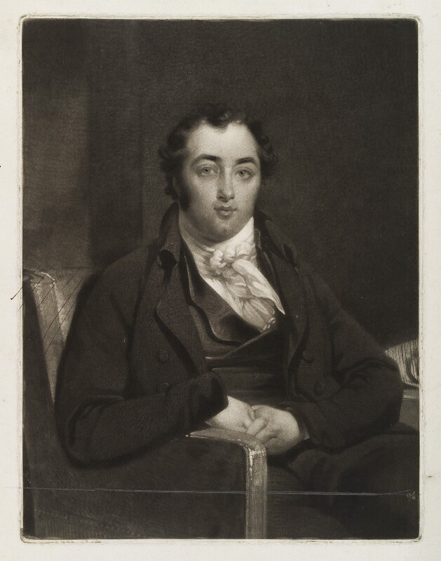 Henry Richard Fox (later Vassall), 3rd Baron Holland, by Samuel William Reynolds, after  John Raphael Smith, published 1806 - NPG D19479 - © National Portrait Gallery, London