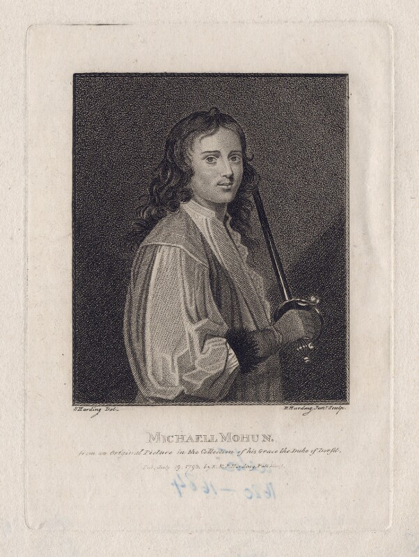 Michael Mohun, by Edward Harding, published by  E. & S. Harding, after  Silvester Harding, published 19 July 1793 - NPG D16533 - © National Portrait Gallery, London