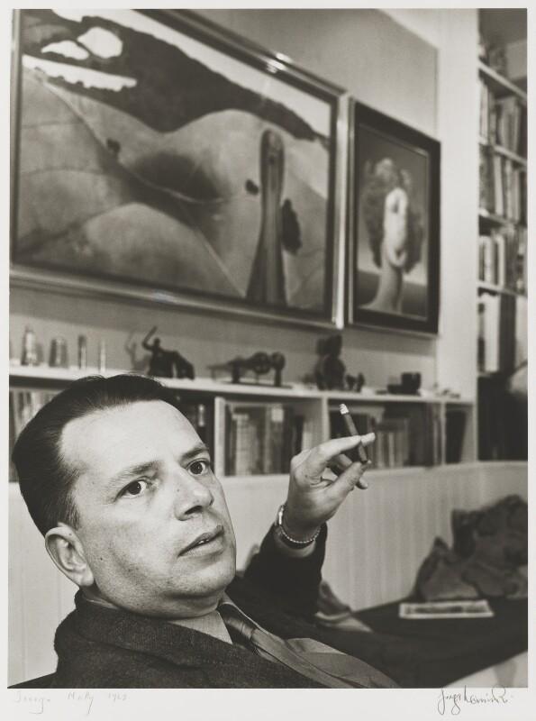 George Melly, by J.S. Lewinski, October 1968 - NPG P1054 - © National Portrait Gallery, London