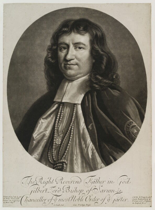 Gilbert Burnet, by John Smith, published by  Edward Cooper, published by  Richard Tompson, after  John Riley, 1690 (circa 1689-1691) - NPG D19571 - © National Portrait Gallery, London
