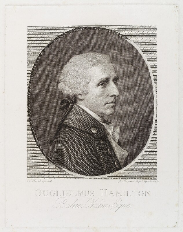 Sir William Hamilton, by Giovanni Elia Morghen, after  Hugh Douglas Hamilton, 1790s - NPG D19592 - © National Portrait Gallery, London