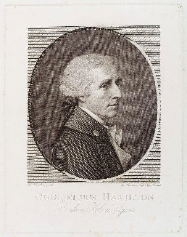 Sir William Hamilton, by Giovanni Elia Morghen, after  Hugh Douglas Hamilton, 1790s - NPG D19592 - © National Portrait Gallery, London