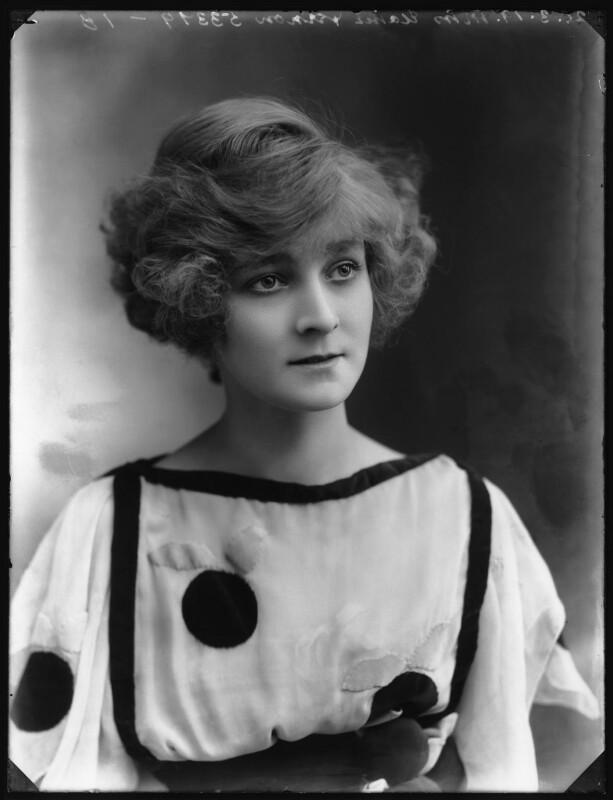Elaine Vernon, by Bassano Ltd, 20 March 1919 - NPG x103589 - © National Portrait Gallery, London