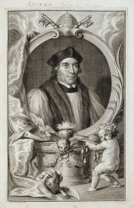John Fisher, by Jacobus Houbraken, after  Hans Holbein the Younger, circa 1737-1742 - NPG D19611 - © National Portrait Gallery, London