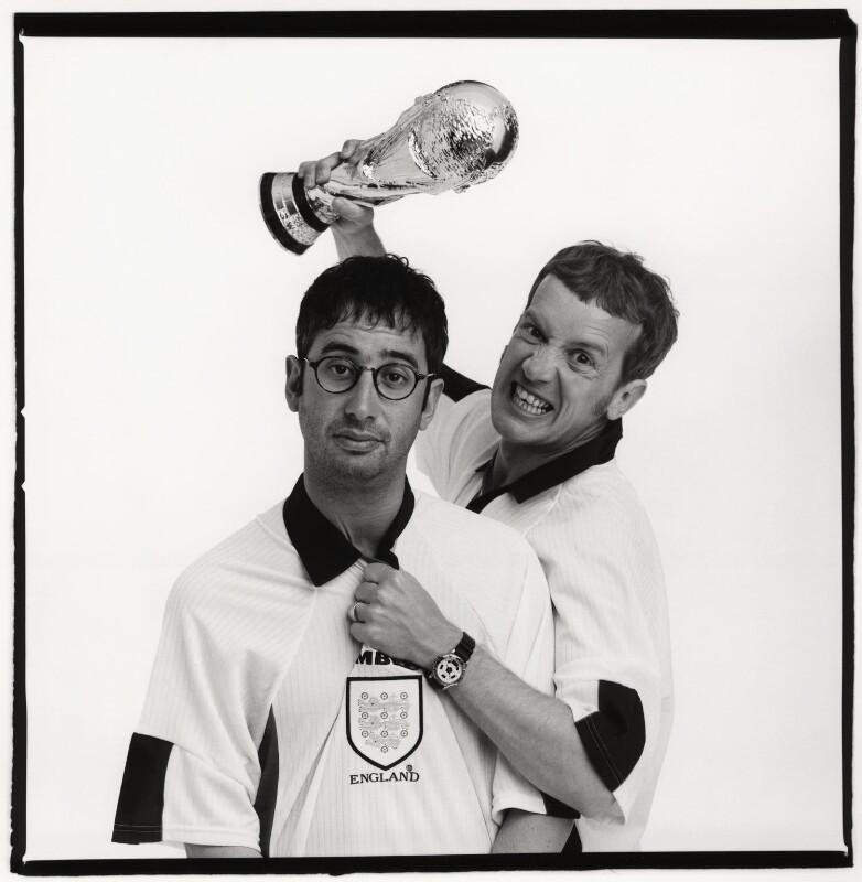 David Baddiel; Frank Skinner, by Trevor Leighton, May 1998 - NPG x87551 - © Trevor Leighton / National Portrait Gallery, London