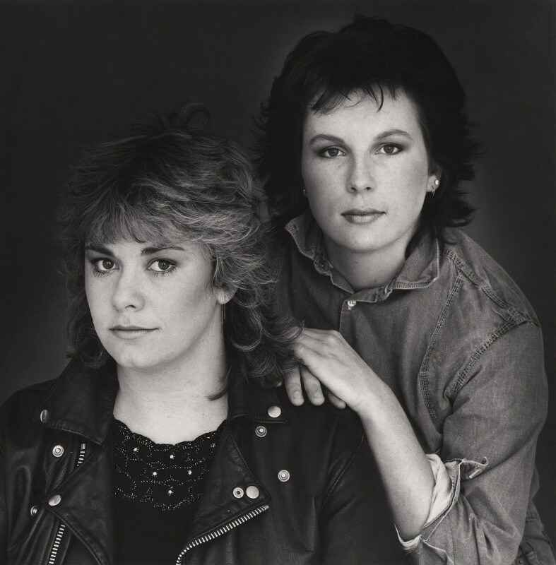 Dawn French; Jennifer Saunders, by Trevor Leighton, 1984 - NPG x29720 - © Trevor Leighton / National Portrait Gallery, London