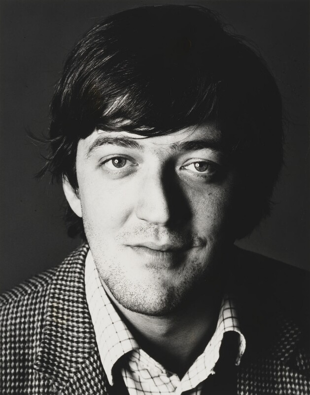 Stephen Fry, by Trevor Leighton, 1987 - NPG x29704 - © Trevor Leighton / National Portrait Gallery, London