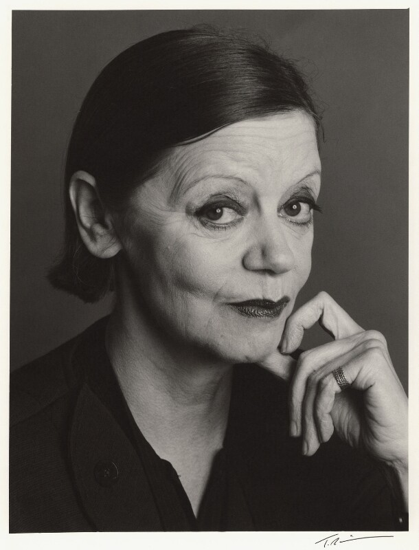 Jean Muir, by Trevor Leighton, 23 November 1987 - NPG x30337 - © Trevor Leighton / National Portrait Gallery, London