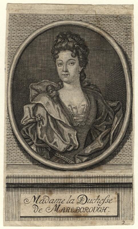 Sarah Churchill (née Jenyns (Jennings)), Duchess of Marlborough, after Sir Godfrey Kneller, Bt, 18th century - NPG D16546 - © National Portrait Gallery, London