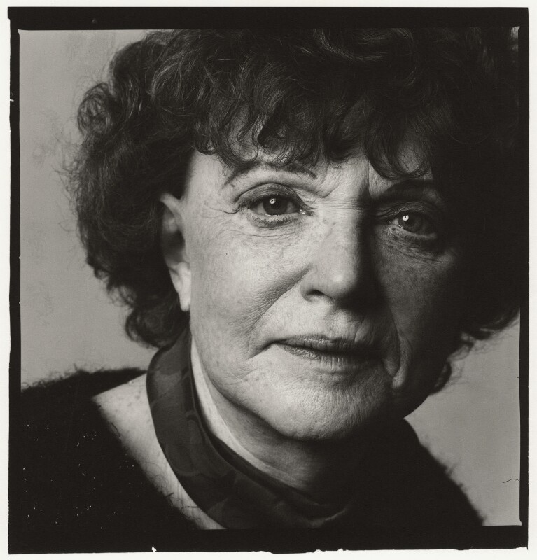 Dame Muriel Spark, by Trevor Leighton, 30 January 1988 - NPG x35338 - © Trevor Leighton / National Portrait Gallery, London
