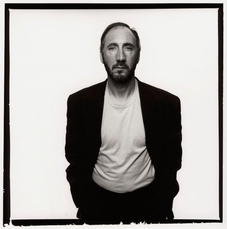 Pete Townshend, by Trevor Leighton, 26 May 1989 - NPG x47392 - © Trevor Leighton / National Portrait Gallery, London