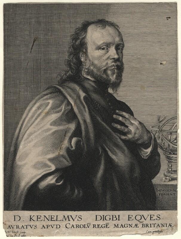 Sir Kenelm Digby, by Robert van Voerst, after  Sir Anthony van Dyck, circa 1636 - NPG D16555 - © National Portrait Gallery, London