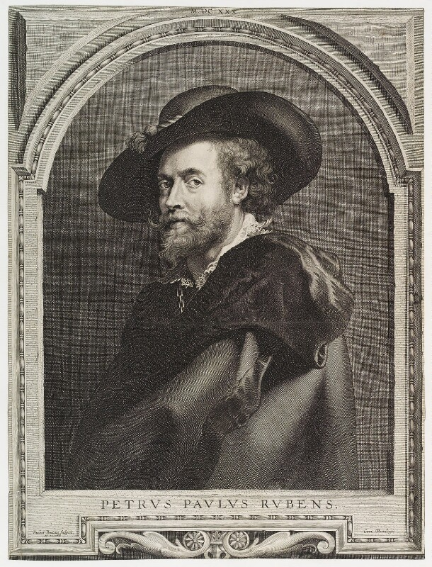 Sir Peter Paul Rubens, by and published by Paulus Pontius (Paulus Du Pont), after  Sir Peter Paul Rubens, (1632) - NPG D19675 - © National Portrait Gallery, London