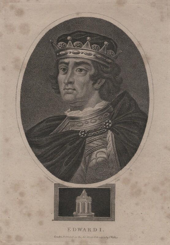 King Edward I, after Unknown artist, published 1804 - NPG D16607 - © National Portrait Gallery, London