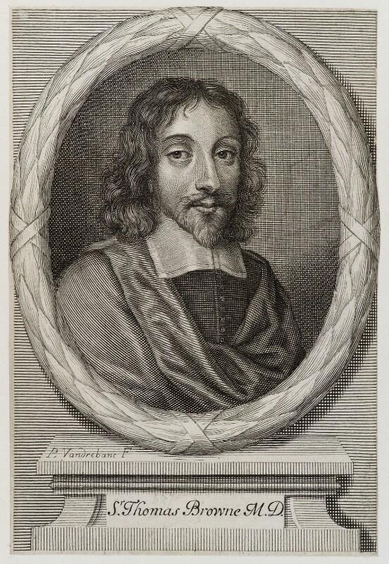 Sir Thomas Browne, by Peter Vanderbank (Vandrebanc), published 1683 - NPG D19702 - © National Portrait Gallery, London