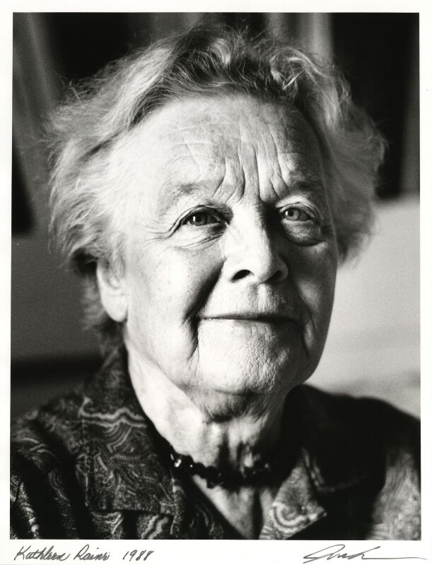 Kathleen Raine, by Juliet Van Otteren, 1988 - NPG x32776 - © Juliet Van Otteren / National Portrait Gallery, London