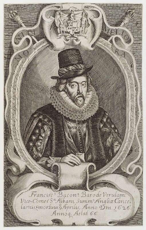Francis Bacon, 1st Viscount St Alban, after Simon de Passe, published circa 1638 - NPG D19730 - © National Portrait Gallery, London