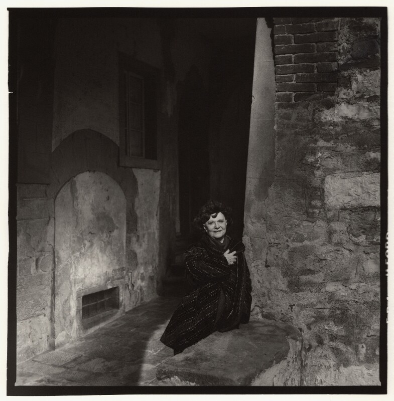 Dame Muriel Spark, by Trevor Leighton, 30 January 1988 - NPG x126721 - © Trevor Leighton / National Portrait Gallery, London