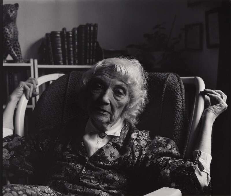 Jean Rhys, by Paul Joyce, July 1977 - NPG x13419 - © Paul Joyce / National Portrait Gallery, London