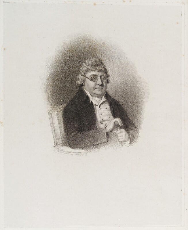 John Nichols, by Anthony Cardon, published by  T. Cadell & W. Davies, after  Henry Edridge, published 1814 - NPG D19749 - © National Portrait Gallery, London