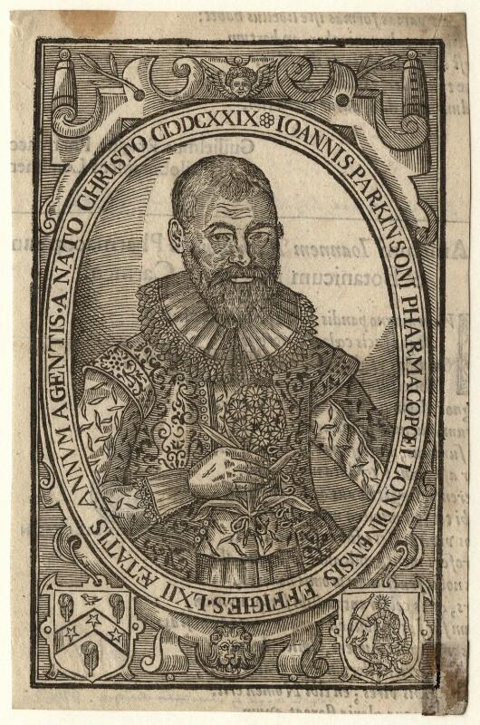 John Parkinson, after Unknown artist, published 1629 - NPG D16620 - © National Portrait Gallery, London