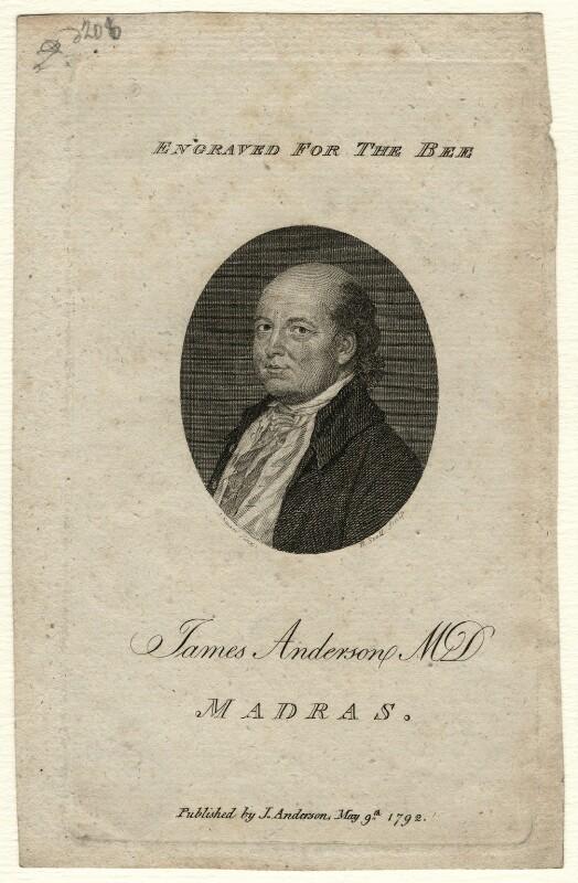 James Anderson, by Robert Scott, after  John Smart, published 1792 - NPG D16625 - © National Portrait Gallery, London
