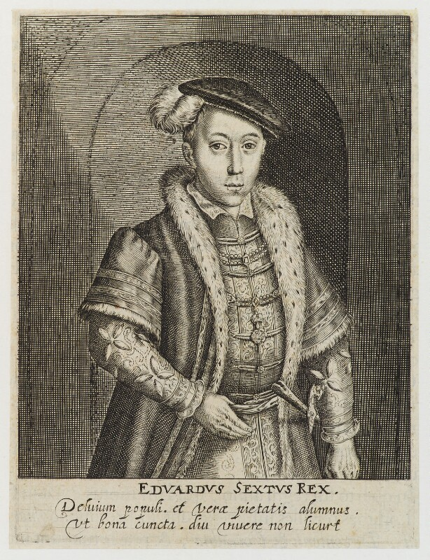 King Edward VI, by Simon de Passe, published 1620 - NPG D19787 - © National Portrait Gallery, London