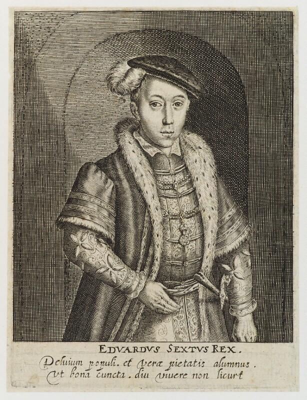 King Edward VI, by Simon de Passe, published 1620 - NPG D19787 - © National Portrait Gallery, London