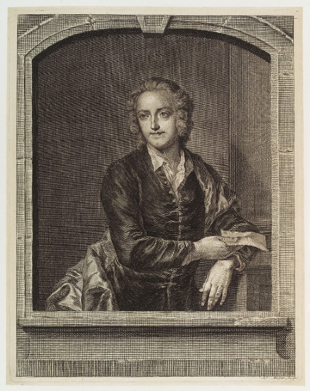 Thomas Gray, by Johann Sebastian Müller, after  John Giles Eccardt, 1753 (1747-1748) - NPG D19788 - © National Portrait Gallery, London
