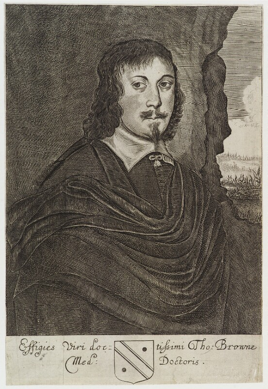 Sir Thomas Browne, by Unknown artist, published 1669 - NPG D19790 - © National Portrait Gallery, London