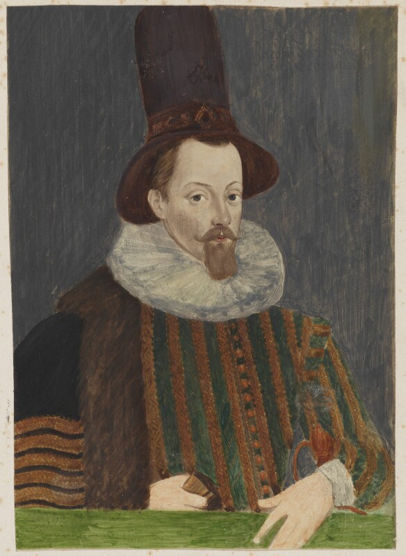 King James I of England and VI of Scotland, after Unknown artist, before 1939 (circa 1590) - NPG D16663 - © National Portrait Gallery, London
