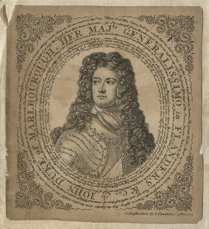 John Churchill, 1st Duke of Marlborough, after Sir Godfrey Kneller, Bt, 1703 - NPG D16643 - © National Portrait Gallery, London