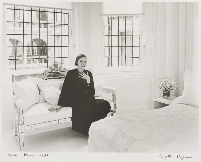 Jean Muir, by Mayotte Magnus, June 1976 - NPG x18626 - © Mayotte Lewinska