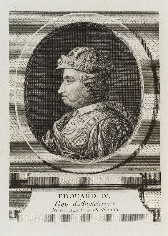 King Edward IV, by Gaillard, after  J. Robert,  - NPG D19838 - © National Portrait Gallery, London
