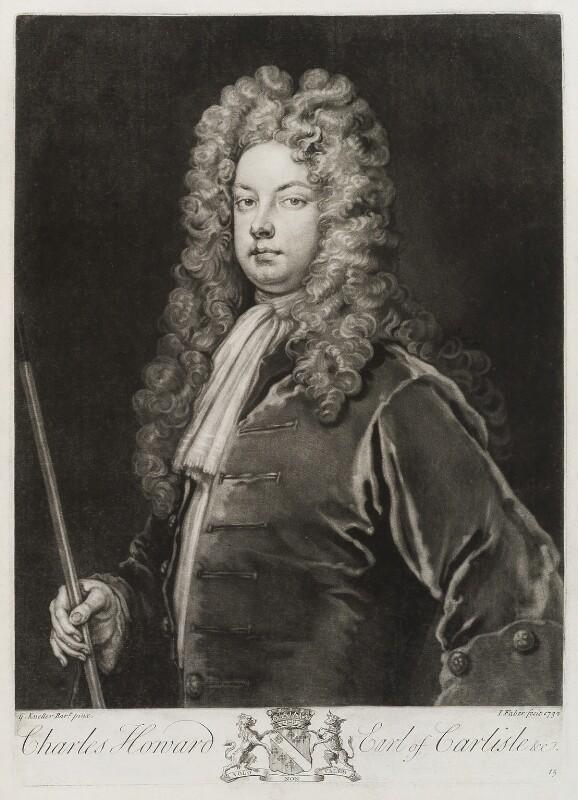 Charles Howard, 3rd Earl of Carlisle, by John Faber Jr, after  Sir Godfrey Kneller, Bt, 1732 (circa 1700-1712) - NPG D19851 - © National Portrait Gallery, London
