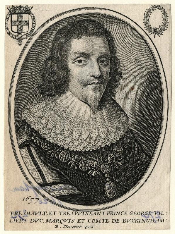George Villiers, 1st Duke of Buckingham, published by Balthasar Moncornet, after  Unknown artist, 1657 - NPG D16664 - © National Portrait Gallery, London
