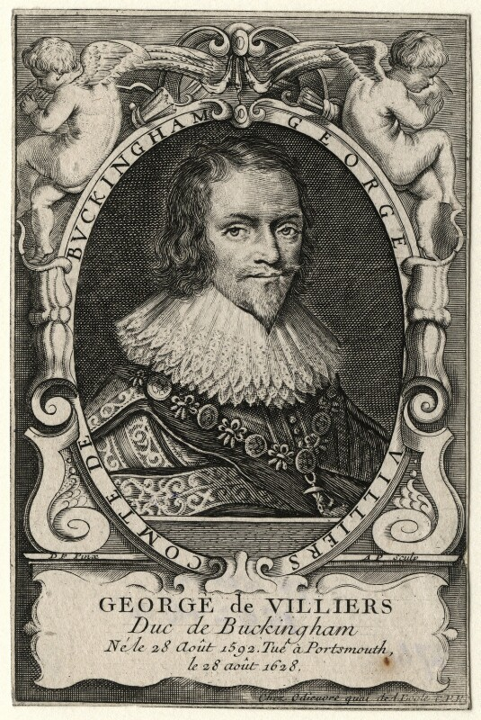George Villiers, 1st Duke of Buckingham, by A.P., after  D.F., after 1628 - NPG D16666 - © National Portrait Gallery, London