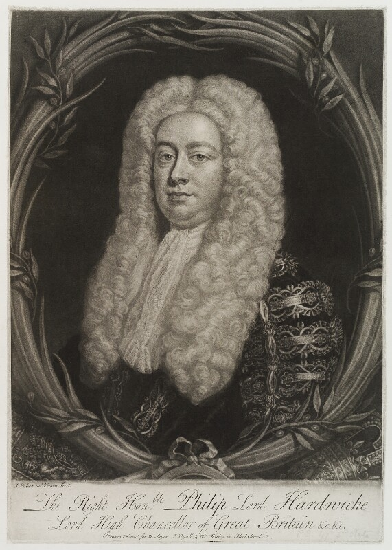 Philip Yorke, 1st Earl of Hardwicke, by John Faber Jr, published by  Robert Sayer, published by  Robert Withy, published by  John Ryall, 1737 - NPG D19871 - © National Portrait Gallery, London