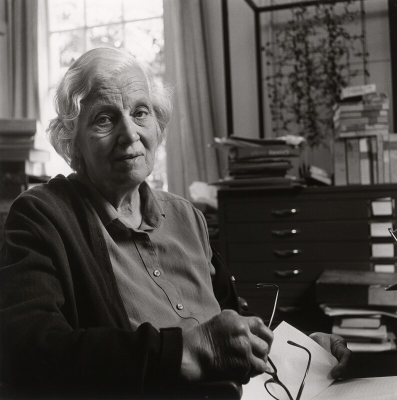 Dorothy Hodgkin, by Deborah Elliott, 1984 - NPG x25229 - © Deborah Elliott