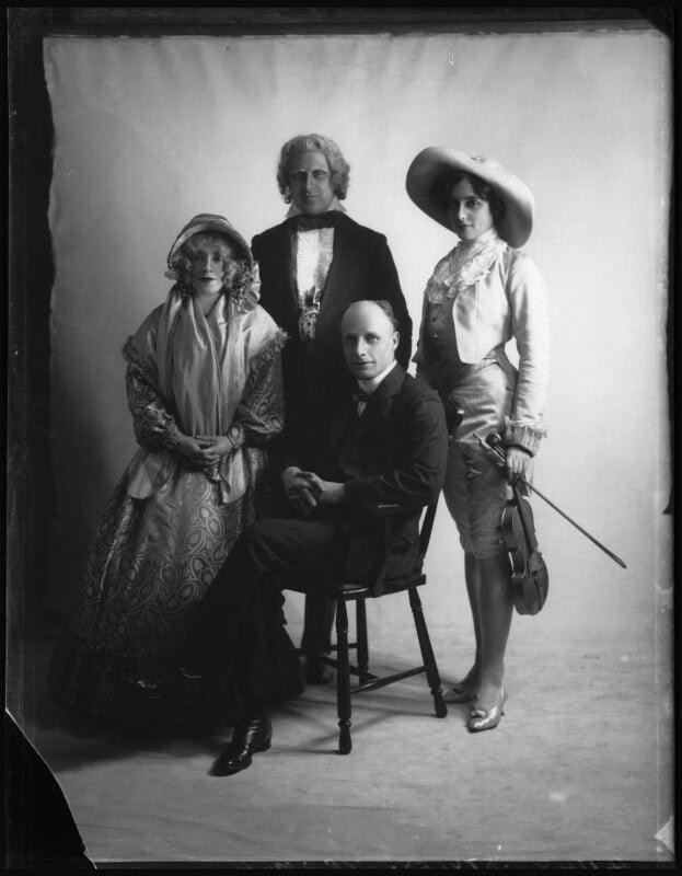 Ivy St Helier; Leslie Stiles; Arthur Anderson; Marjorie Maxwell, by Bassano Ltd, 6 January 1912 - NPG x103845 - © National Portrait Gallery, London